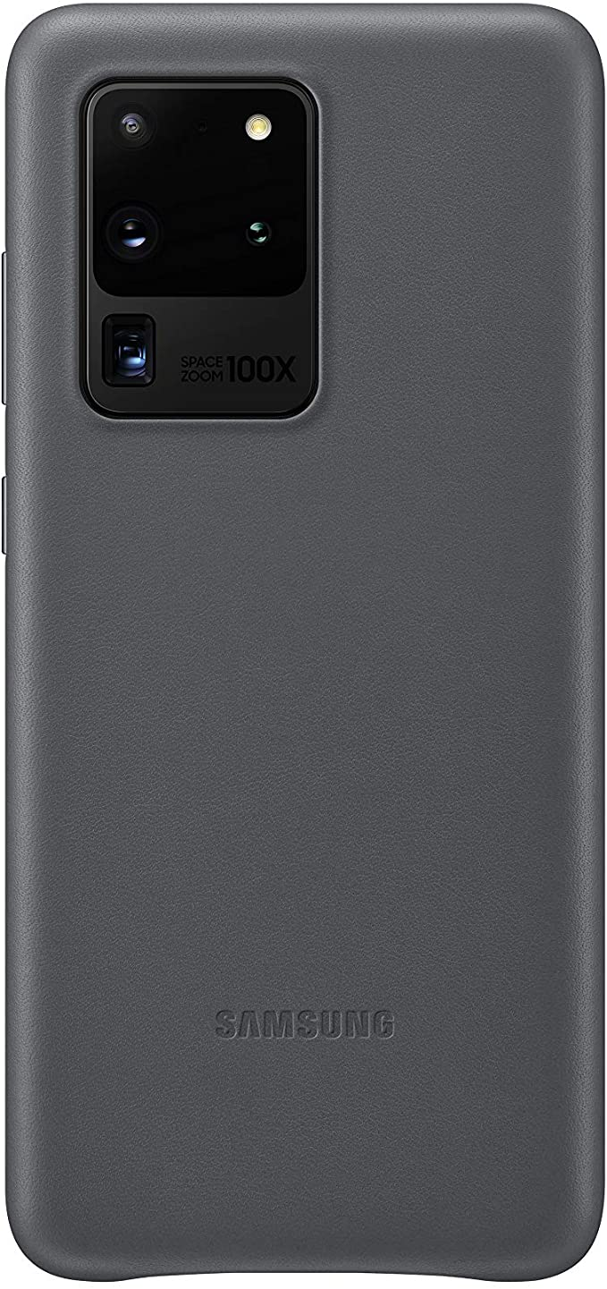 Samsung Leather Cover Cover Samsung Galaxy S20 Ultra 5G Grigio