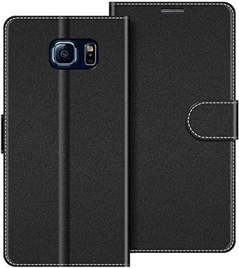 Custodia per Samsung Galaxy S6 in Pelle Nero
