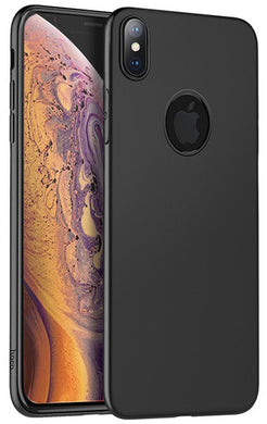COVER CUSTODIA POSTERIORE PROTETTIVA PER APPLE IPHONE XS MAX CON BUCO NERO  HOCO