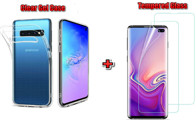 SLIM COVER CUSTODIA IN SILICONE TRASPARENTE GEL COVER per Samsung Galaxy  S10 PLUS S9 S8
