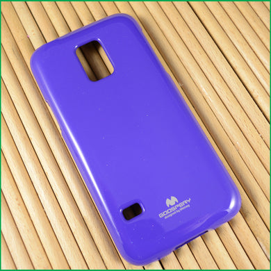 Cover per Samsung S5 Mini Viola custodia morbida in Tpu Jelly case Mercury