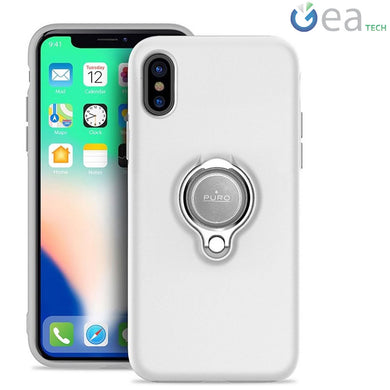 Puro Magnet Ring Cover Per Apple iPhone XS MAX Custodia Stand Anello  Trasparente