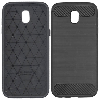 MAXY B-CASE CUSTODIA TPU COVER METAL CARBON BLACK PER SAMSUNG GALAXY J5  (2017)