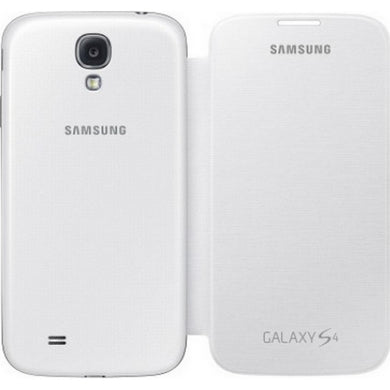 SAMSUNG CUSTODIA FLIP-COVER BOOK-CASE ORIGINALE GALAXY S4 I9505 WHITE  BIANCA TO