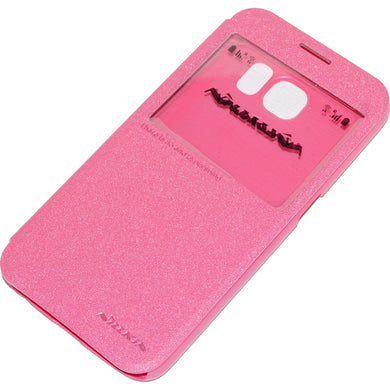 NILLKIN CUSTODIA SPARKLE LEATHER FLIP BOOK CASE SAMSUNG GALAXY S6 G920F  ROSA