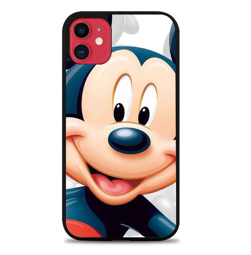 Custodia Cover iphone 11 pro max Face Mickey Mouse FF10039 Case