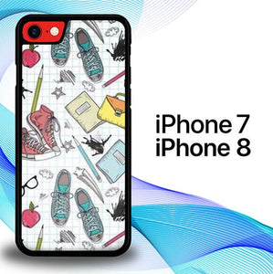 Custodia Cover iphone 7 8 Daily Art S0346 Case