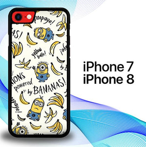 Custodia Cover iphone 7 8 Banana Minion S0389 Case