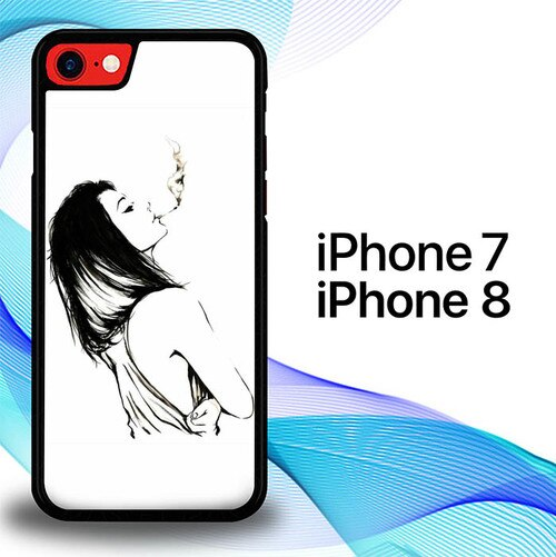 Custodia Cover iphone 7 8 Woman Smooke S0528 Case