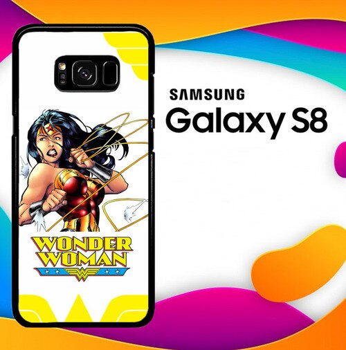 Custodia Cover samsung galaxy s8 s8 edge plus Wonder Woman in Action O3055 Case