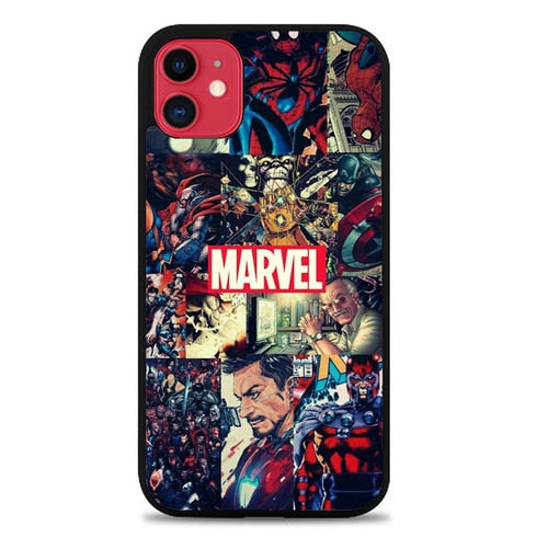 Custodia Cover iphone 11 pro max Marvel Comic Heroes O7283 Case