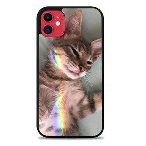 Custodia Cover iphone 11 pro max Laying relaxed like in heaven O7431 Case