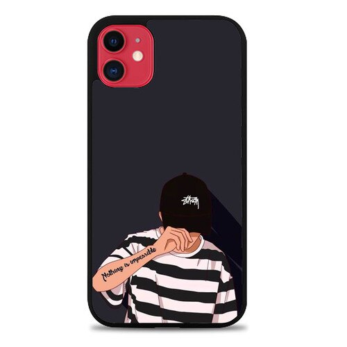 Custodia Cover iphone 11 pro max Nothing is impossible O7461 Case