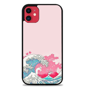 Custodia Cover iphone 11 pro max Waves Painting B0506 Case