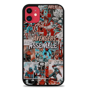 Custodia Cover iphone 11 pro max Avengers Assemble B0510 Case