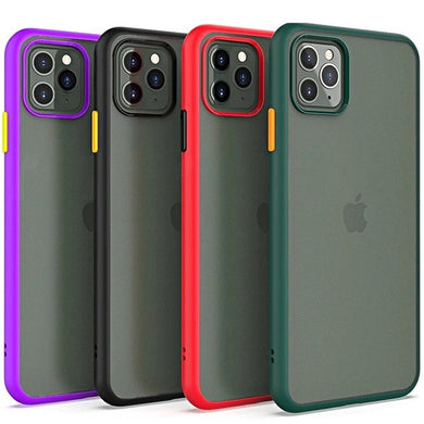 COVER per Iphone 11 / Pro Max CUSTODIA ULTRA SOTTILE SEMI TRASPARENTE SLIM  OPACO