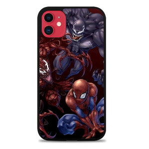 Custodia Cover iphone 11 pro max Spiderman Venom Carnage Back Z1619 Case