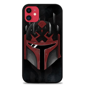 Custodia Cover iphone 11 pro max Star Wars Mandalorian face Z4525 Case