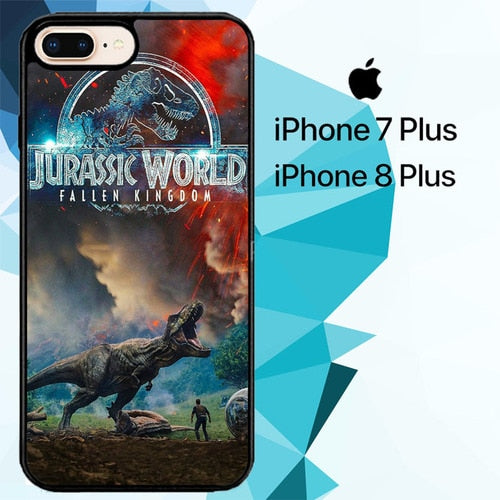 Custodia Cover iphone 7 plus 8 plus jurassic world fallen kingdom Z7096 Case