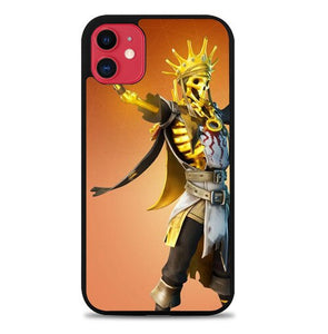 Custodia Cover iphone 11 pro max Fortnite oro reign begin Z5036 Case