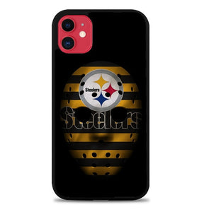 Custodia Cover iphone 11 pro max pittsburgh steelers mask Z5046 Case