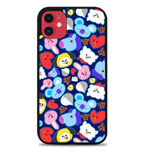 Custodia Cover iphone 11 pro max bt21 pattern Z5048 Case