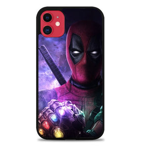 Custodia Cover iphone 11 pro max deadpool thanos Z5157 Case