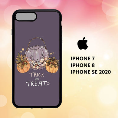 custodia cover iphone 5 6 7 8 plus x xs xr case T2889 cute halloween wallpaper 61aT3