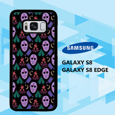 custodia cover samsung galaxy S6 S7 S8 S9 S10 edge case D2632 cute halloween wallpaper 61uD3
