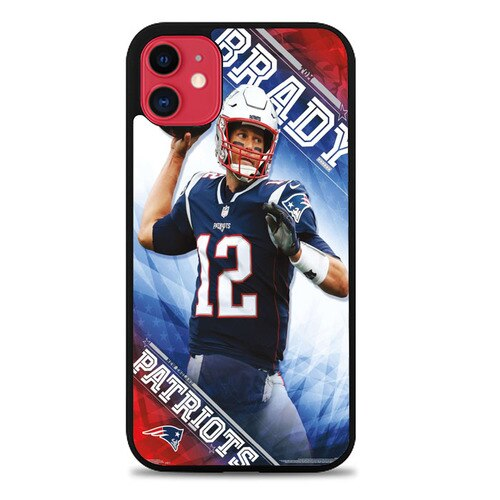 Custodia Cover iphone 11 pro max New England Patriots Tom Brady X00037 Case