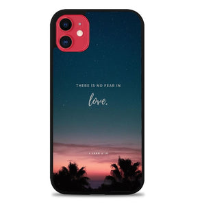 Custodia Cover iphone 11 pro max There is no fear in love X00830 Case