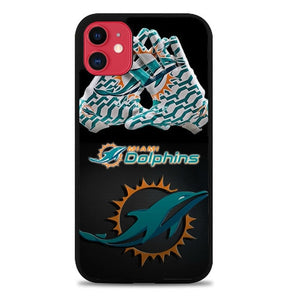 Custodia Cover iphone 11 pro max Miami Dolphins Logo X3415 Case