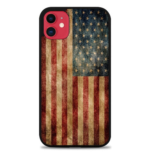 Custodia Cover iphone 11 pro max Vintage American Flag X5606 Case