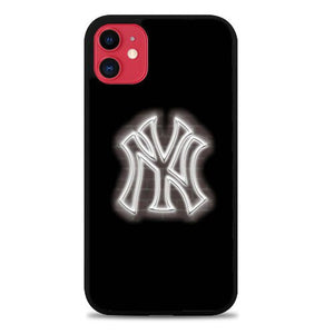 Custodia Cover iphone 11 pro max New York Yankees Glow Logo L3090 Case