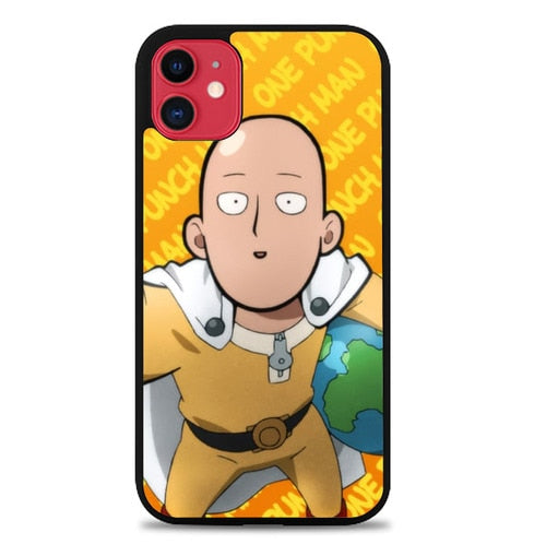 Custodia Cover iphone 11 pro max One Punch Man Around World L3397 Case