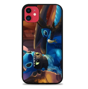 Custodia Cover iphone 11 pro max Toothless and Stitch L3409 Case