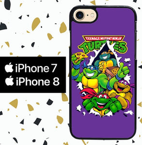 Custodia Cover iphone 7 8 Teenage Mutant Ninja Turtles Y0093 Case