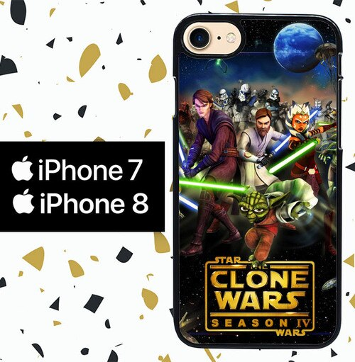 Custodia Cover iphone 7 8 clone wars Y0639 Case