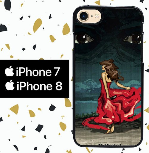 Custodia Cover iphone 7 8 the weeknd xo WALLPAPER Y0840 Case