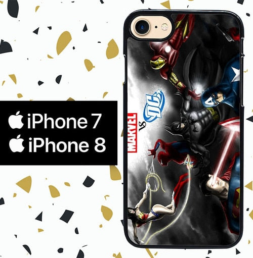Custodia Cover iphone 7 8 dc vs marvel Y0898 Case
