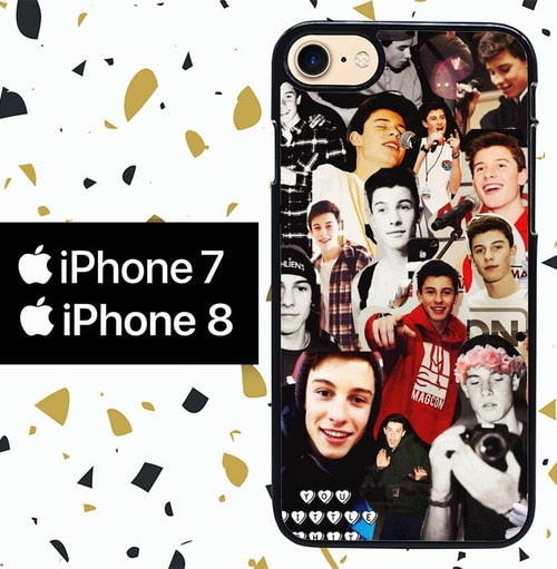 Custodia Cover iphone 7 8 shawn mendes collage Y1146 Case