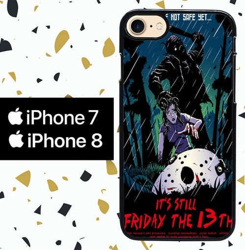 Custodia Cover iphone 7 8 friday the 13th wallpaper Y1241 Case