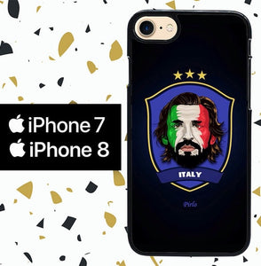 Custodia Cover iphone 7 8 Italy pirlo W0003 Case