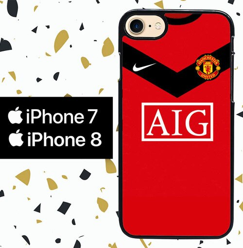 Custodia Cover iphone 7 8 manchester united W0046 Case
