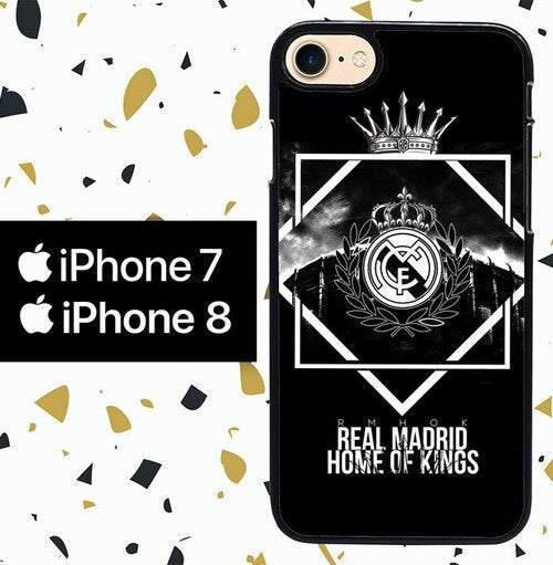 Custodia Cover iphone 7 8 real madrid W0053 Case