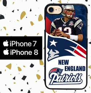 Custodia Cover iphone 7 8 New England Patriots W3015 Case