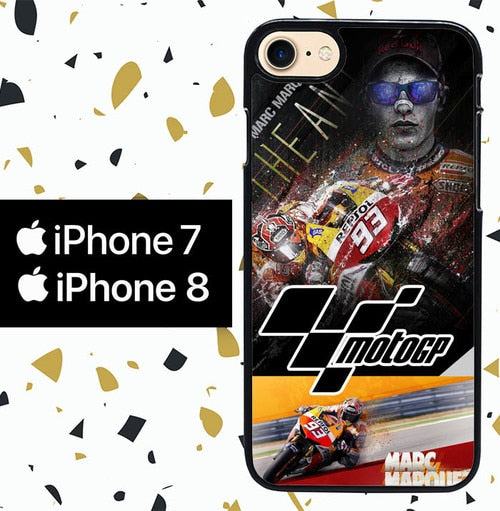 Custodia Cover iphone 7 8 Marc Marquez W3109 Case