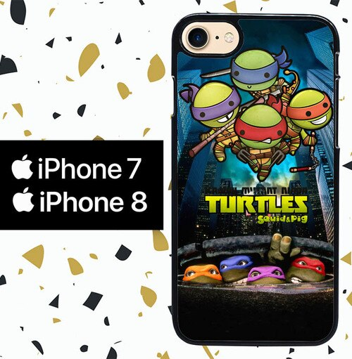 Custodia Cover iphone 7 8 Teenage Mutant Ninja Turtles W3369 Case