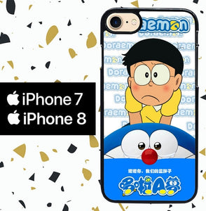 Custodia Cover iphone 7 8 DORAEMON W3887 Case