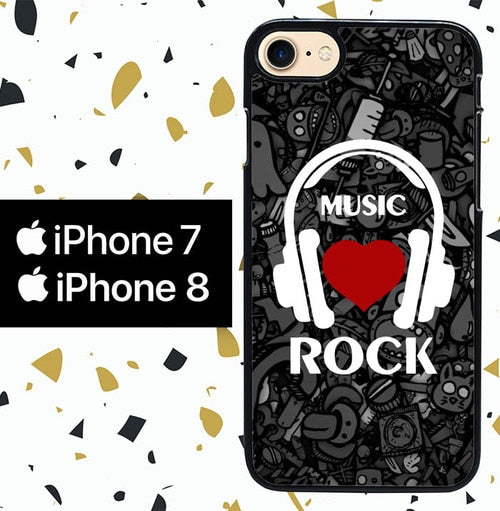 Custodia Cover iphone 7 8 music rock W3905 Case